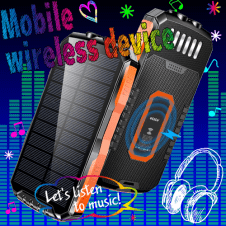 【elzle】ソーラーモバイルバッテリー 大容量 25000mAh