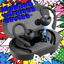【Axloie】Bluetoothイヤホン 耳かけタイプ